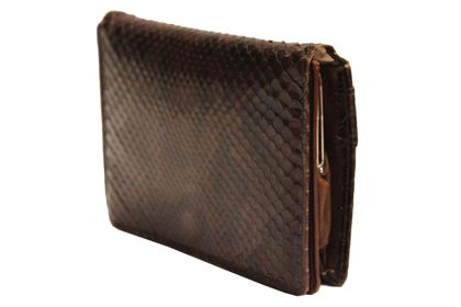 Vintage 1950s Snakeskin brown clutch bag