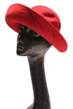Jacoll 1960s wool felt red vintage hat