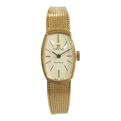 Omega small yellow gold ladies vintage watch