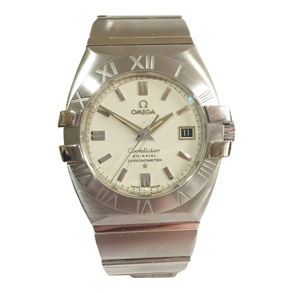 Omega Constellation Co-Axial stainless steel mens vintage watch