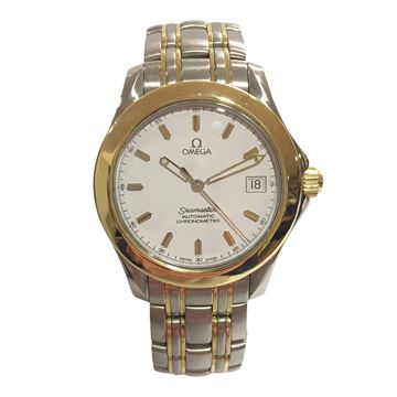 Omega Seamaster stainless steel and gold automatic men's vintage chronometer