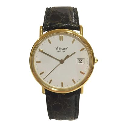 Chopard round faced yellow gold with date feature 1161 mens vintage watch