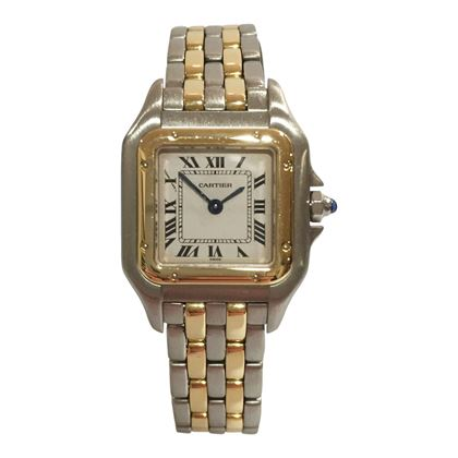 Cartier Panthère 1120 18 carat yellow gold and stainless steel ladies vintage watch
