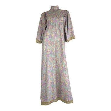 Thea Porter Late 1960s Silk floral vintage Maxi Dress