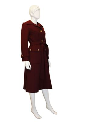 Aquascutum 1970s wool red vintage coat