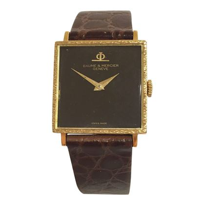 Baume & Mercier 18 carat yellow gold mid size vintage watch