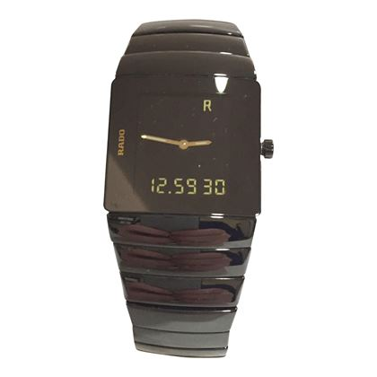 Rado ceramic black 193.0354.3 digital feature mens vintage watch