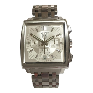 Tag Heuer Monaco stainless steel chronograph vintage mens watch