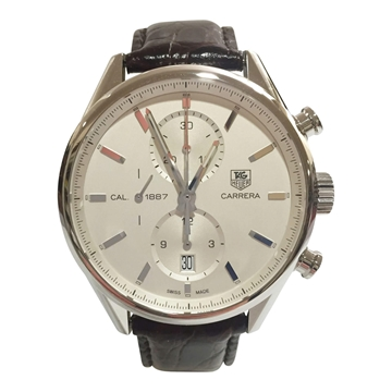 TAG Heuer Carrera chronograph CAR2111 stainless steel vintage mens watch