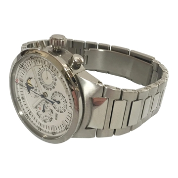 IWC GST Perpetual Calendar stainless steel white dial IW3756 men's vintage watch