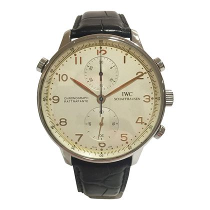 IWC Portuguese Chrono-Rattrapante stainless steel IW371202 men's vintage watch