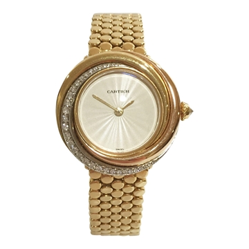 Cartier Trinity 18 carat yellow gold and diamond 2357 ladies vintage watch