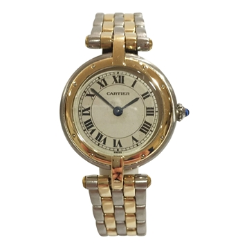 Cartier Panthère Ronde stainless steel and 18 carat gold 4461 ladies vintage watch