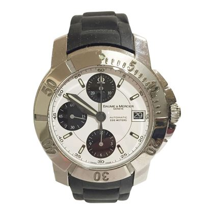Baume & Mercier Capeland stainless steel chronograph 65352 men's vintage watch