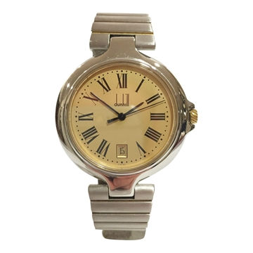 Dunhill mid-size with date feature stainless steel men's vintage watch