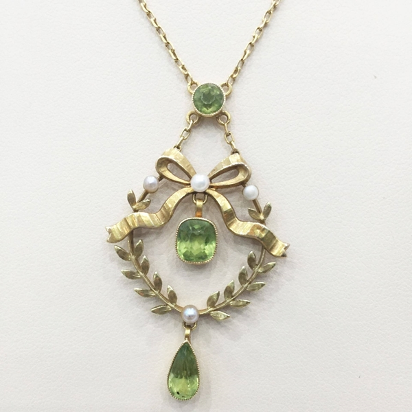 attractive from necklace apple peridot dt c green encore jewelry cushion necklaces halo