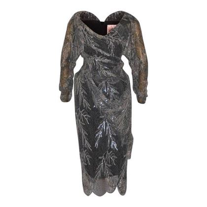 Vivienne Westwood Gold Label Grey Lace Sequin Dress