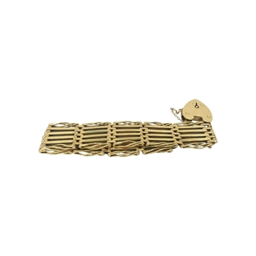 Antique Edwardian 9ct gold gate bracelet