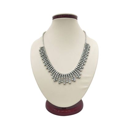 Vintage 1930s Art Deco Diamond Fringe Necklace