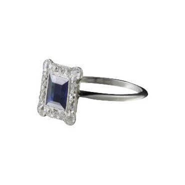 Antique Edwardian sapphire & diamond set ring