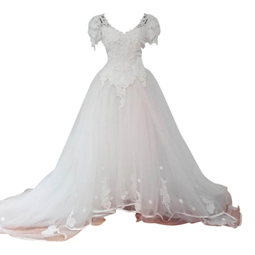 Vintage 1980s Tulle skirt Wedding Dress