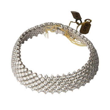 Vintage diamond white gold cocktail bracelet