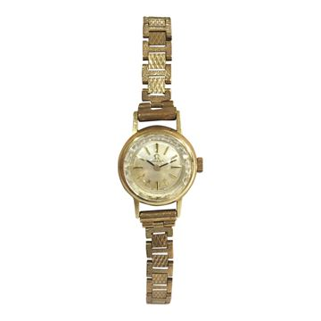 Omega 9 carat yellow gold women's vintage watch