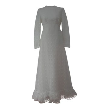 Vintage 1960s Lace Wedding Dress