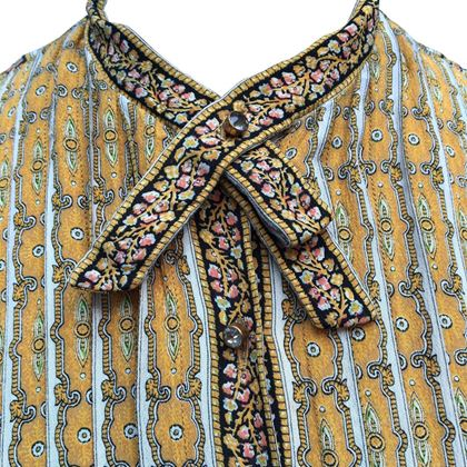Carlye 1970s Classic Shirt Style Multicoloured Vintage Dress