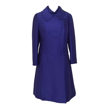 Jean Patou 1960s purple vintage dress suit