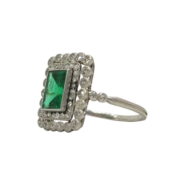 Antique Exquisite French Emerald Ring