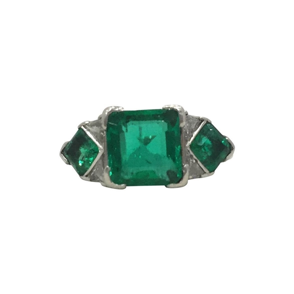 Vintage Art Deco Emerald Ring