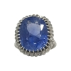 Antique Edwardian Large Sapphire and Diamond Ring