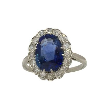 Antique Edwardian Sapphire & Diamond Ring
