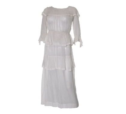 Antique Edwardian lace white vintage Day Dress