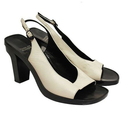 Charles Jourdan 1980s monochrome vintage Sandals