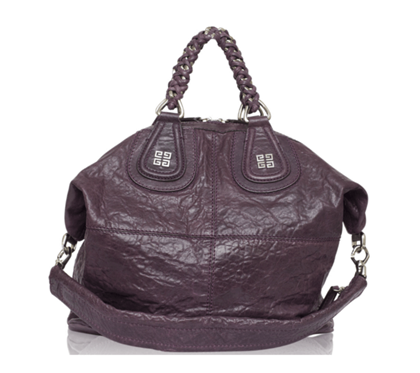 Givenchy Nightingale Purple Leather Vintage Tote