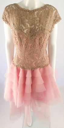 Bruce Oldfield 1980s Custom Made pink Vintage Dress