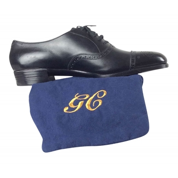George Cleverley mens leather brogue style shoes