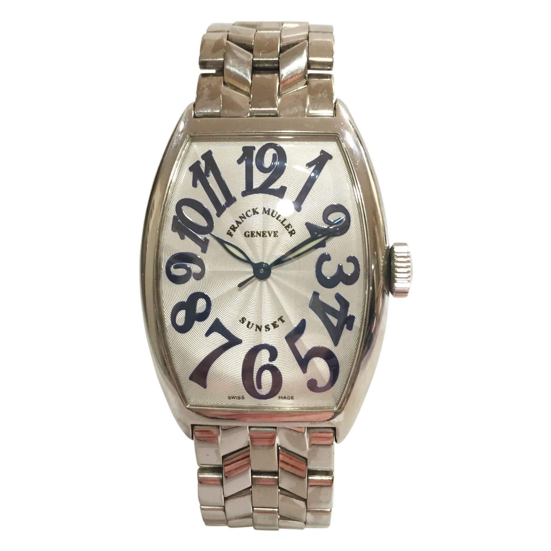 franck muller sunset 18ct white gold 5850sc vintage mens watch franck muller sunset 18ct white gold 5850sc mens vintage watch