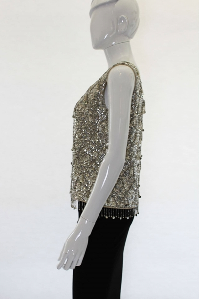 Alan Lee of Mayfair 1960s sequinned vintage Evening Top