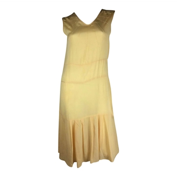 Vintage Art Deco 1920s silk yellow day dress