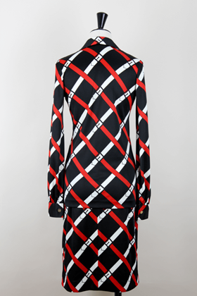 Roberta Di Camerino 1970s black check vintage Dress