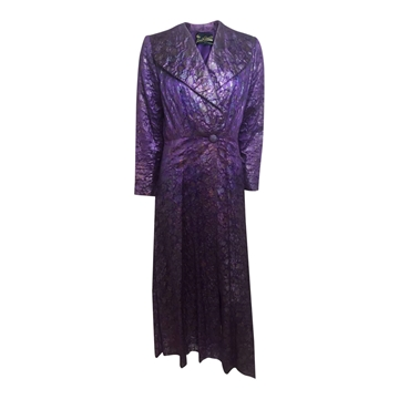 Vintage 1930's silk lame purple evening coat
