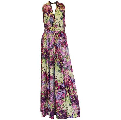 Berketex 1970s Floral purple vintage dress
