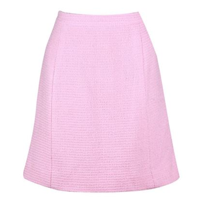 Chanel 1980s Bouclé wool pink vintage Skirt