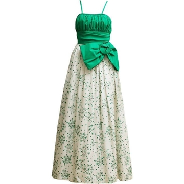 Vintage 1950's bespoke emerald green dress