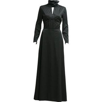 Betty Barclay 1970's rollneck maxi black vintage dress