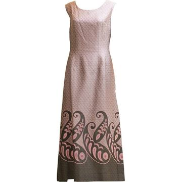 Vintage 1960's pink & grey paisley detail dress