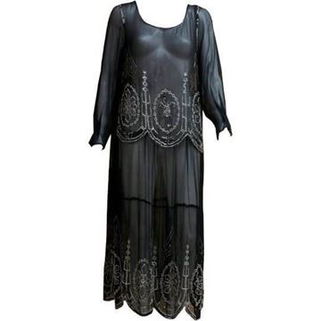 Art Deco 1920's Beaded Flapper vintage Dress